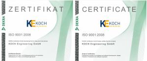 ISO Zertifikat 9001